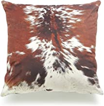 "Hofdeco Decorative Throw Pillow Cover Premium Short Plush Fall Decor Tri Color Brown Southwestern Cowhide Print 18""x18"" 45..."