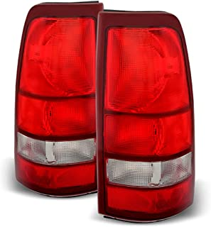 ACANII - For 1999-2002 Chevy Silverado 1500 99-06 GMC Sierra Red Tail Lights Lamps Left+Right