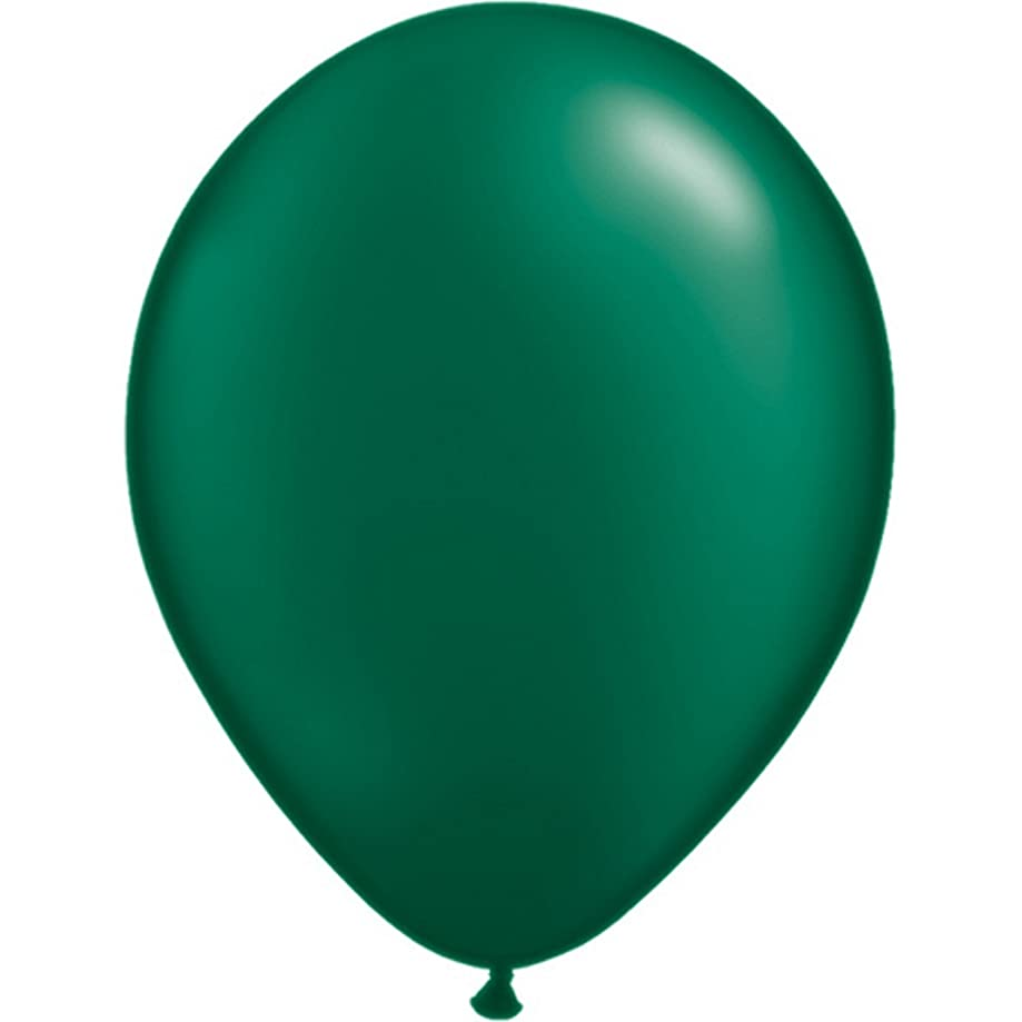 Qualatex Qualatex Pearl Forest Green Round Latex Balloons, 11 inch (100pc Set) Party Supplies and Decorations