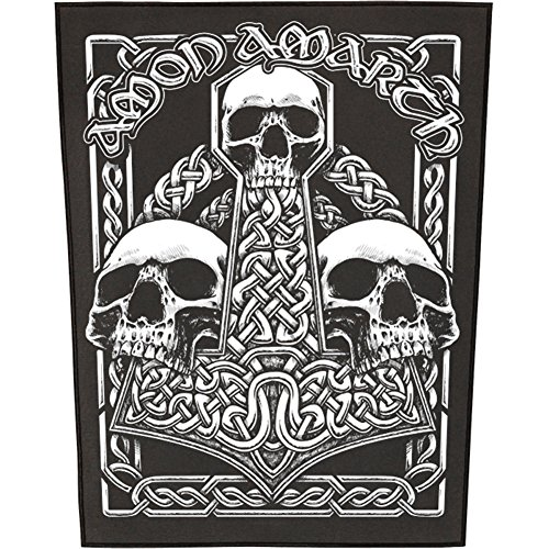 XLG Amon Amarth Three Skull Back Patch Death Metal Music Jacket Sew On Applique