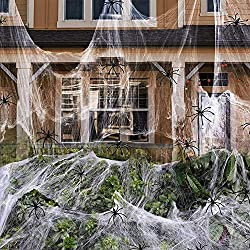 800 Sq Ft Spider Webs Decoration - 50% Off!