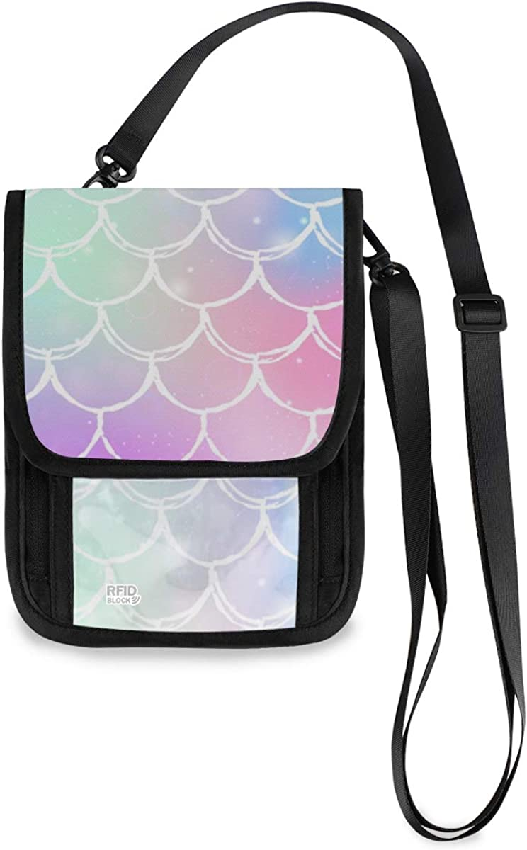 VIKKO Rainbow Fixed price for sale Mermaid Scales Travel Safety and trust Wallet With Block RFID Neck