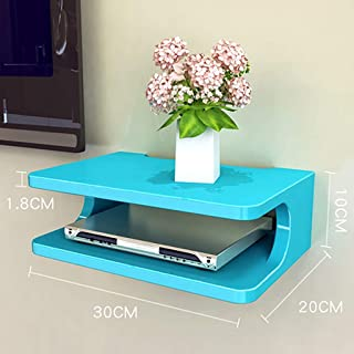HJJ Los estantes flotantes Creativo/montadas en la Pared Medios Caja/módem/Cable Set-Top Caja de la Consola/Consola/TV/Rep...