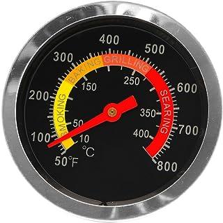 YUZI - Termometro per barbecue, in acciaio inox, con indicatore di temperatura, 10-400 ℃