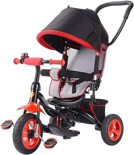 en linea Triciclos- Niños Bicicleta Bicicleta Bicicleta para Niños Trike Baby Bike Carrito para bebés de 1-3-5 años de antigüedad, con Techo corrojoizo panorámico (Color   púrpura)  solo para ti