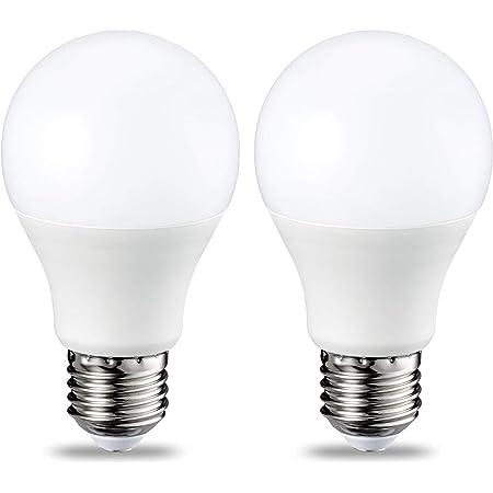 Amazon Basics Bombilla LED Esférica E27, 9W (equivalente a 60W), Blanco Cálido, Regulable - 2 unidades