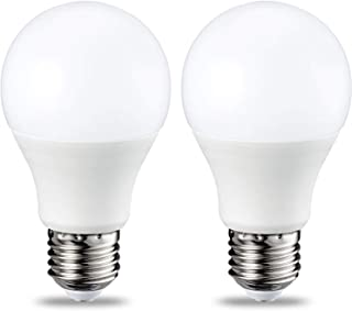 comprar comparacion AmazonBasics Bombilla LED Esférica E27, 9W (equivalente a 60W), Blanco Cálido, Regulable - 2 unidades