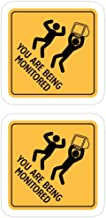 Hik kal Shop You are Being Monitored Stickers (3 Pcs/Pack)