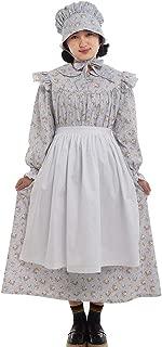 GRACEART Pioneer Girls Dress Colonial Prairie Costume 100% Cotton (6 Colors Option)