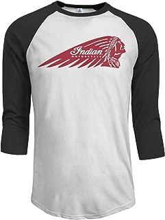 DavidBill T-Shirt for Men Indian Motorcycles Logo Leisure 3/4 Sleeve Tee