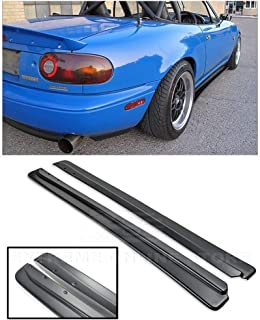 Replacement for 1990-1997 Mazda Miata MX-5 NA   EOS JDM Feed FD Style ABS Plastic Primer Black Side Skirt Rocker Panels Extension