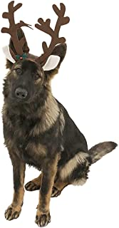 Midlee Brown Reindeer Dog Antlers Headband with Jingle Bell
