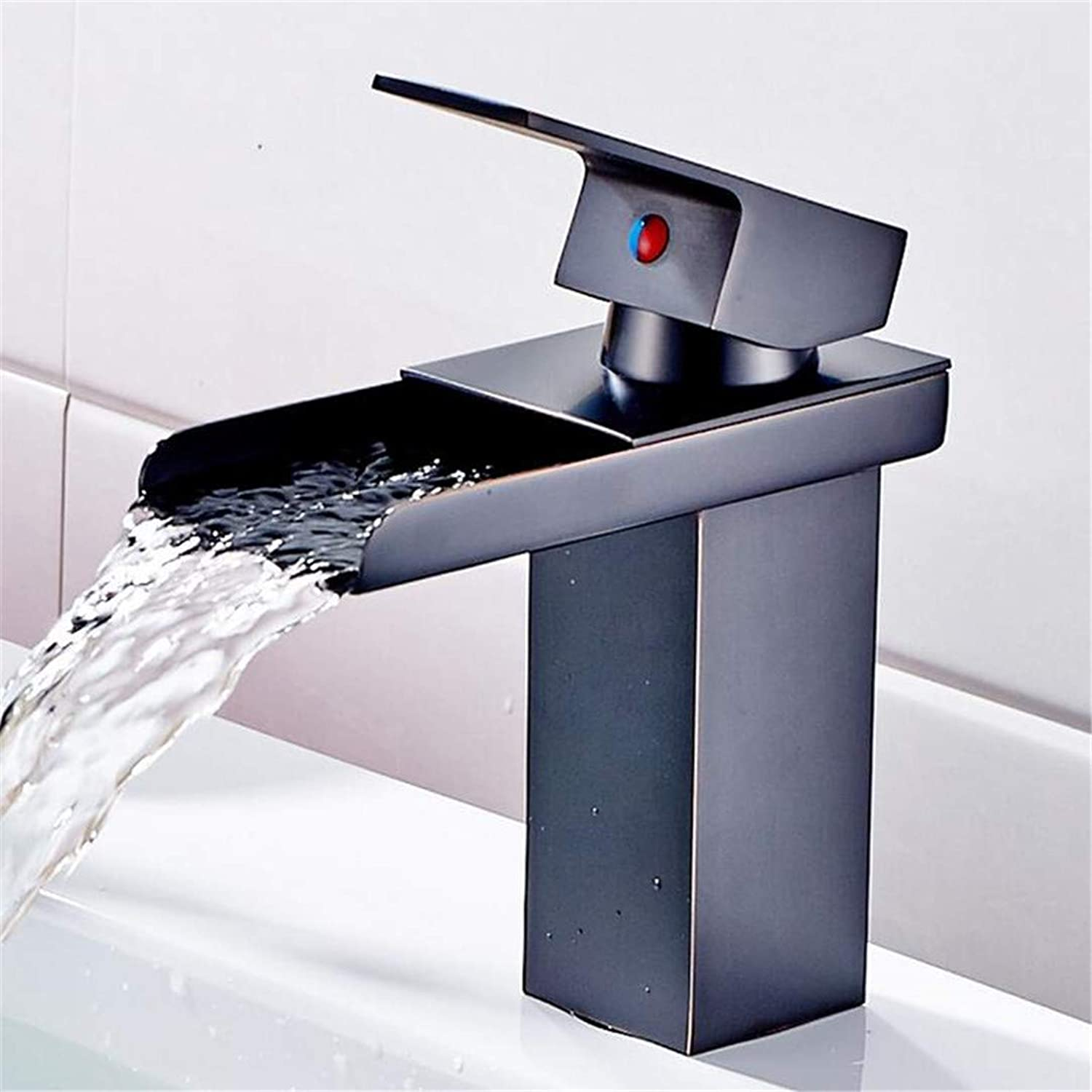 Faucet Washbasin Mixer Deck Mounted Sink Tap Orb Single Handle Mixer Taps Single Holder Hot and Cold Water