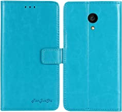 TienJueShi Blue Book-Style Flip Leather Protector Case Cover Skin Etui Wallet for Allview P4 PRO 4.2 inch