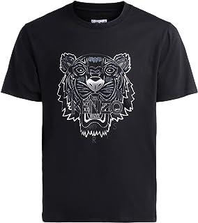 Kenzo - Maglietta da uomo, motivo: tigre, aderente, taglia S, colore: Nero