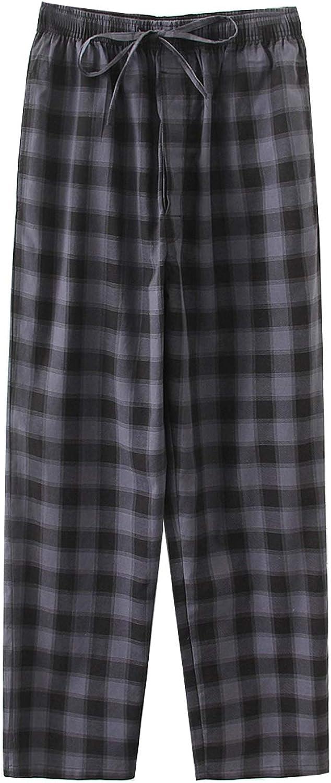 Big Boy's Cotton Plaid Pajama Pants Lounge Long Pants Loose Size 8 10 12 14 16