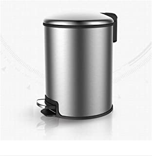 Special/Simple Stainless Steel Trash Can Household Pedal Trash Can Living Room Bedroom With Lid Trash Can, Three Colors Op...