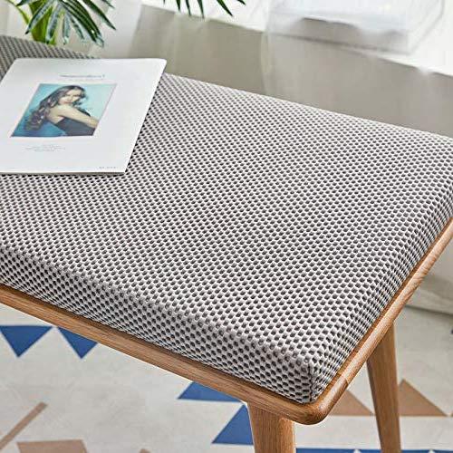 ANQI Rechteckiges Bankkissen, dick gepolstert, lange Stuhl-Sitzauflage für Holz- und Metall-Esstischbank, Outdoor, 2/3-Sitzer, Gartenpalettenmöbel