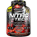 MuscleTech NitroTech Protein Powder Plus Creatine Monohydrate Muscle Builder, 100% Whey Protein,40 Servings,1.81