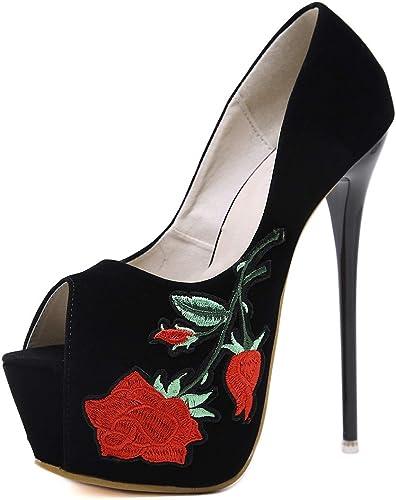 LBTSQ-Sexy LBTSQ-Sexy 16CM Super Talon Haut Chaussures étanches Tableau à La Mode.  se hâta de voir