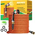 50-Feet Expandable Garden Water Hose with Brass Fitting & Spray Nozzle