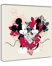 【アートデリ】ミッキーマウス&ミニーマウスのファブリックパネル