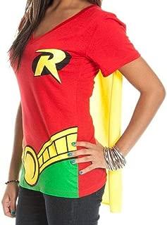 Robin Women's V-Neck Caped Costume T-Shirt