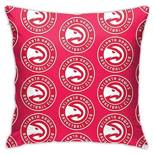 Rico Atlanta Hawks Unisex Delicate Edging, Square Home Sofa Decoration Pillowcase Cushion Cover 18'x 18' Inches