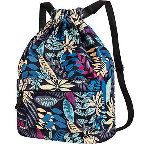 Vbiger Mochila de Cuerda Mujer Bolsos Playa Mochila Saco Tela para Deporte Gimnasio Yoga Nadar (Traje)