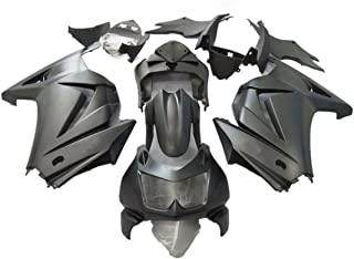 ZXMOTO Matte Black ABS Motorcycle Bodywork Fairing Kit for Kawasaki Ninja 250R EX250 2008 2009 2010 2011 2012 (Pieces/kit: 15)