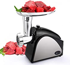 Homdox Electric Meat Grinder, 2000W Meat Mincer with 3 Grinding Plates and Sausage Stuffing Tubes for Home Use &Commercial, Stainless Steel, Dishwasher safe (2000W Max)