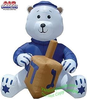 Air Blown Inflatable 11' Hanukkah Bear Holding Dreidel Yard Decoration
