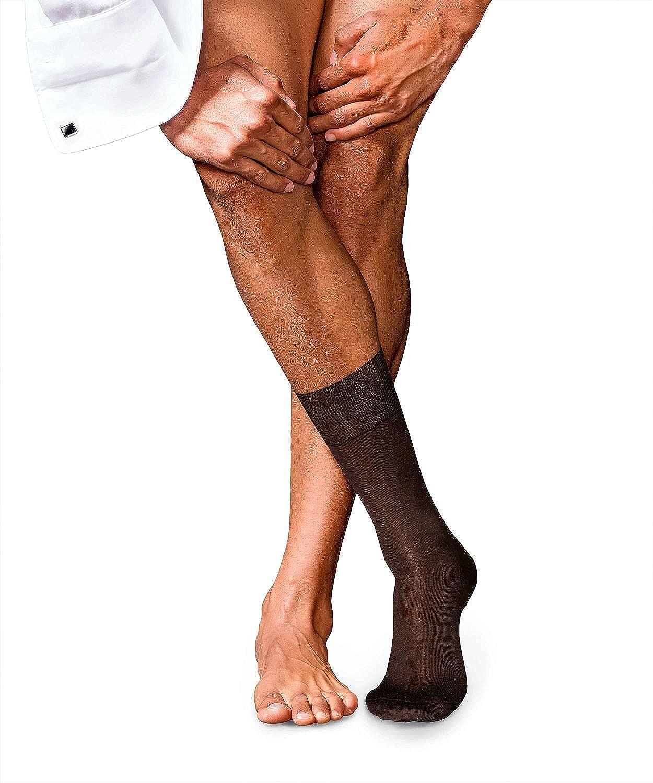 FALKE Mens No. 6 Finest Merino & Silk Dress Sock - 60% Merino Wool, 25% Silk, Multiple Colors, US sizes 6.5 to 13.5, 1 Pair
