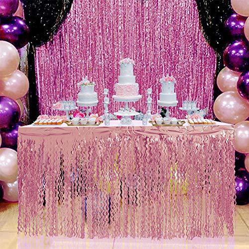 ACHICOO Spiraalkwastje tafel rok voor bruiloft verjaardag party decoratie