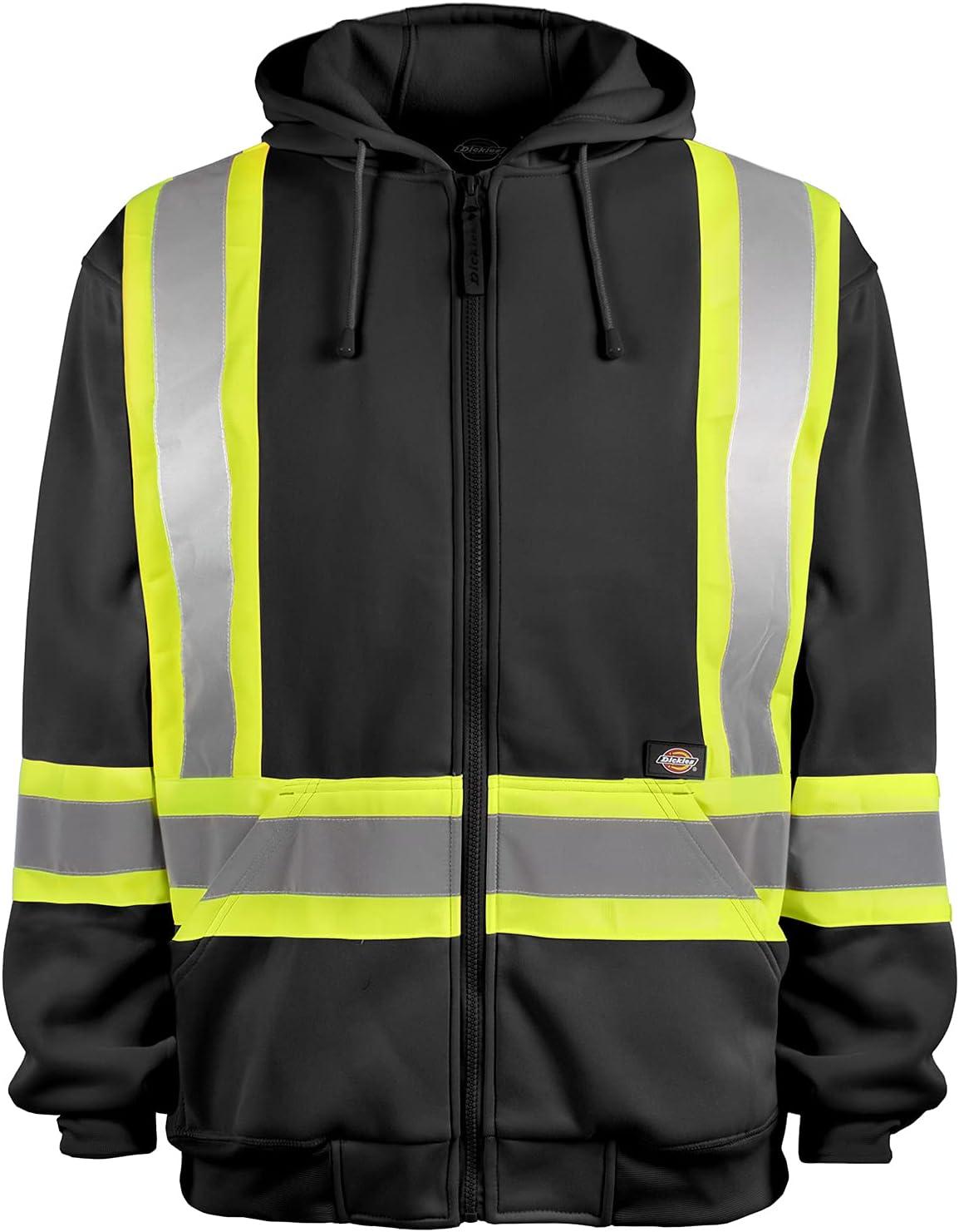 Dickies Workwear High-Visibility Fleece Hoodie, M Black