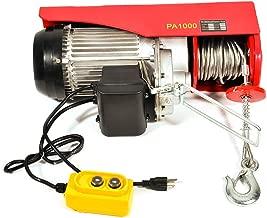Electric Mini Hoist, TUPARTS 2200LBS Overhead Winch Crane Powered Wire Hoist w/Remote Control for Garage Auto Shop (1800W)