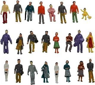 Beada 24 x målade modelljärnväg människor figurer skala HO (1 till 87)