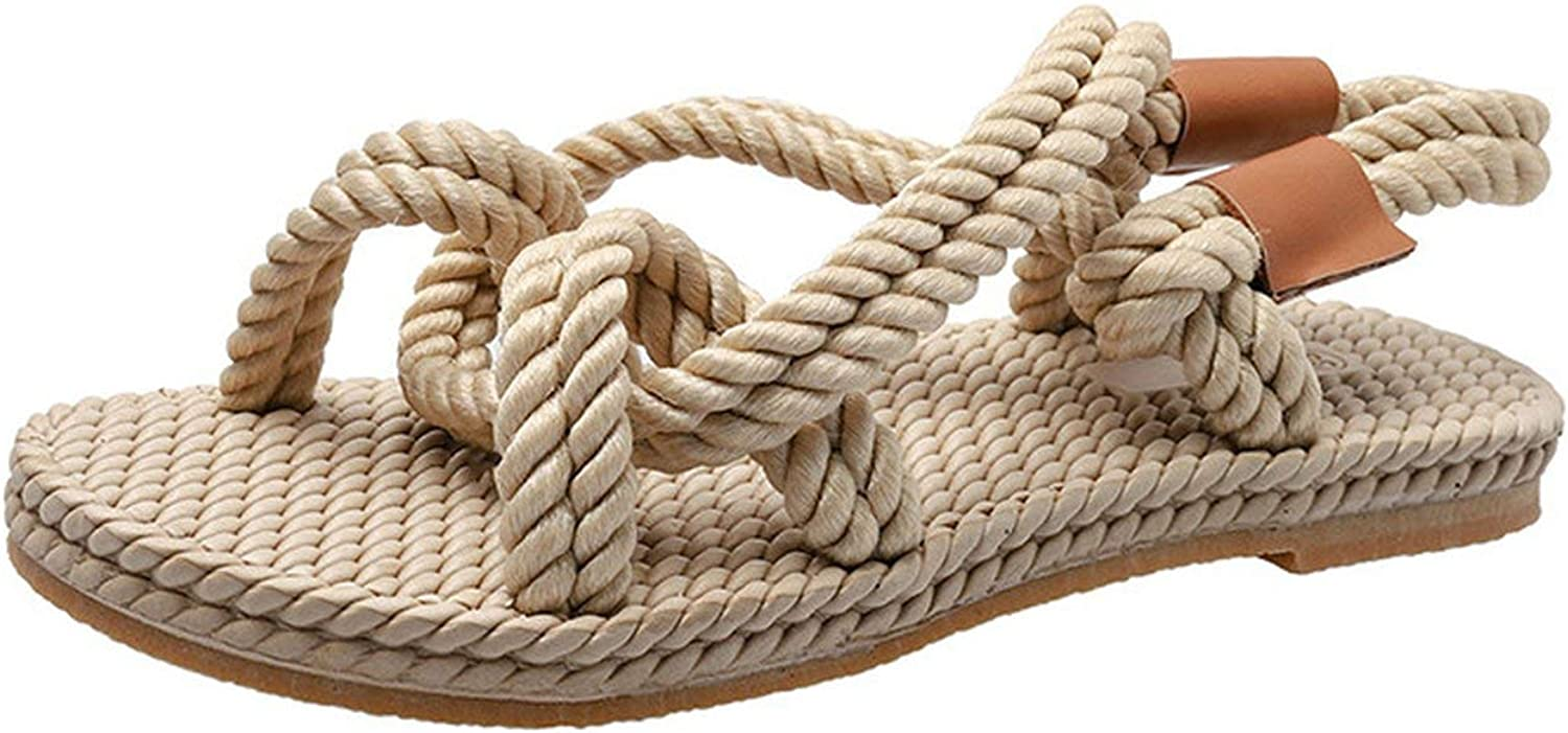 April With You 2019 Rope Sandals Women Patchwork Straw Slippers Cross-Tied Gladiator Sandalias