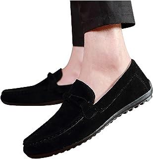 Damen Pantoletten Mokassin-Hausschuhe Outdoor Casual Slipper Fußbett Loafer 44 B