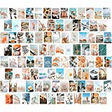 KOSKIMER 100PCS Blue Wall Collage Kit Aesthetic Pictures, 100 Set 4x6 Inch, Boho Style Room Decor for Girls, VSCO Posters for Bedroom, Photo Collage kit, Dorm Room Wall Decor, Beach Collage Print Kit