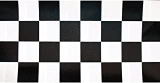 Creative Converting Roll Plastic Table Cover, 100-Feet, Black Check - 72097