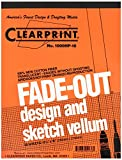 Clearprint Vellum Pad with 10x10 Fade-Out Grid, 8.5x11 Inches, 16 lb., 60 GSM, 1000H 100% Cotton, 50 Translucent White Sheets, 1 Each (10003410)