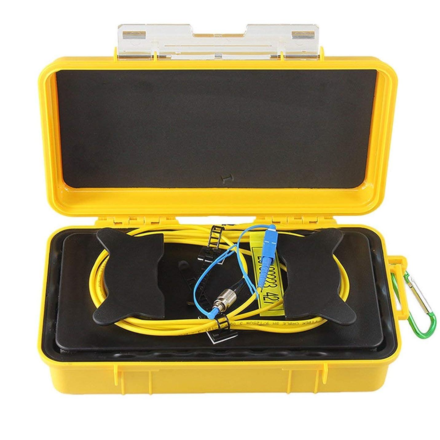 頑張るマウス十分FC-UPC/SC-UPCプロフェッショナルシングルモード500M OTDR発射ケーブルボックスファイバーリングOTDR発射光ファイバーケーブル(色:黄色&後)