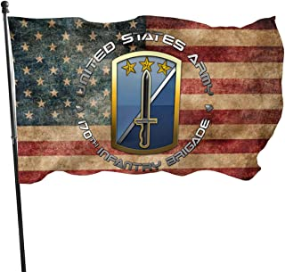 FAQINGguoqi 170th Infantry Brigade Flag 3' X 5' Ft Outdoor Flags Banner Breeze Flag