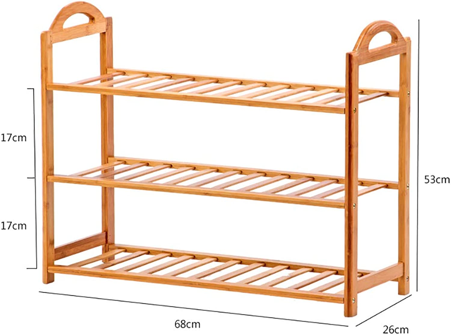 shoes Bench Organizing Rack Natural Bamboo shoes Rack, Simple Multi-Storey shoes Cabinet, Multi-Functional Slippers Rack, economical Home Bamboo Assembly shoes Cabinet
