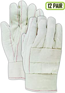 Magid Glove & Safety 198KBT Magid Heater Beater 24 oz. Cotton Canvas Hot Mill Gloves, Natural, Men's (Fits Large) (12 Pairs)