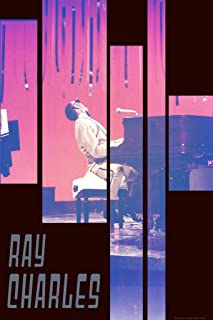 Ray Charles Pink Piano Music Cool Wall Decor Art Print Poster 24x36
