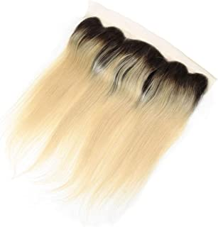 Hairpieces Hairpieces (8inch-20inch) 13x4 Blonde Full Lace Frontal Closure Free Part Brazilian Straight Human Hair Extensions for Daily Use and Party (Color : Blonde, Size : 16 inch)