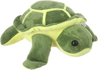 Turtle Shaped Stuffed Doll for Kids, Green and Yellow - EM10012