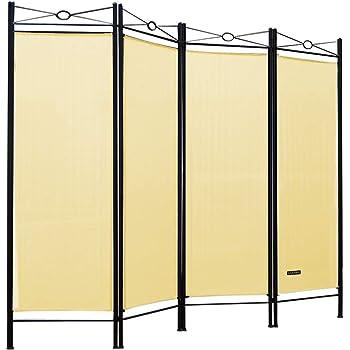 vidaXL Biombo Divisor de 3 Paneles de Tela cremqa 120x170x4 cm: Amazon.es: Hogar
